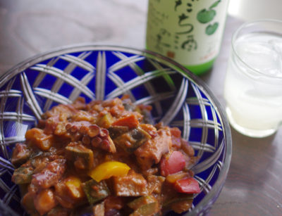 夏野菜のトマト味噌煮